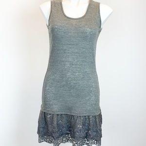 Monoreno knit lace tank dress layered